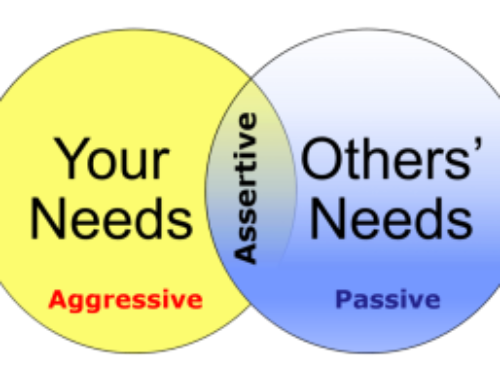 Understanding that fine line between aggressive and assertive.